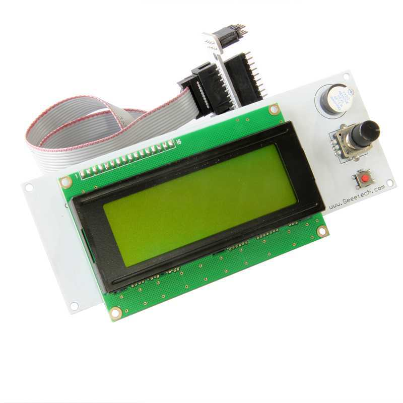 ФОТО 3 D printer accessory  Reprap Ramps 1.4 2004LCD intelligent controller with SD card reader top quality