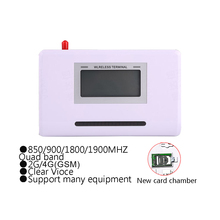 (1 Set) Fixed Wireless GSM 850/900/1800/1900 MHZ Alarm System Communications Equipment Desktop LCD display Calling System