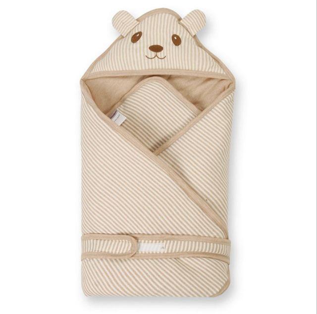 Alta qualidade de cama de algodão cobertor do bebê recém-nascido envoltório macio quente do bebê receber blanket 80*80 cm J057