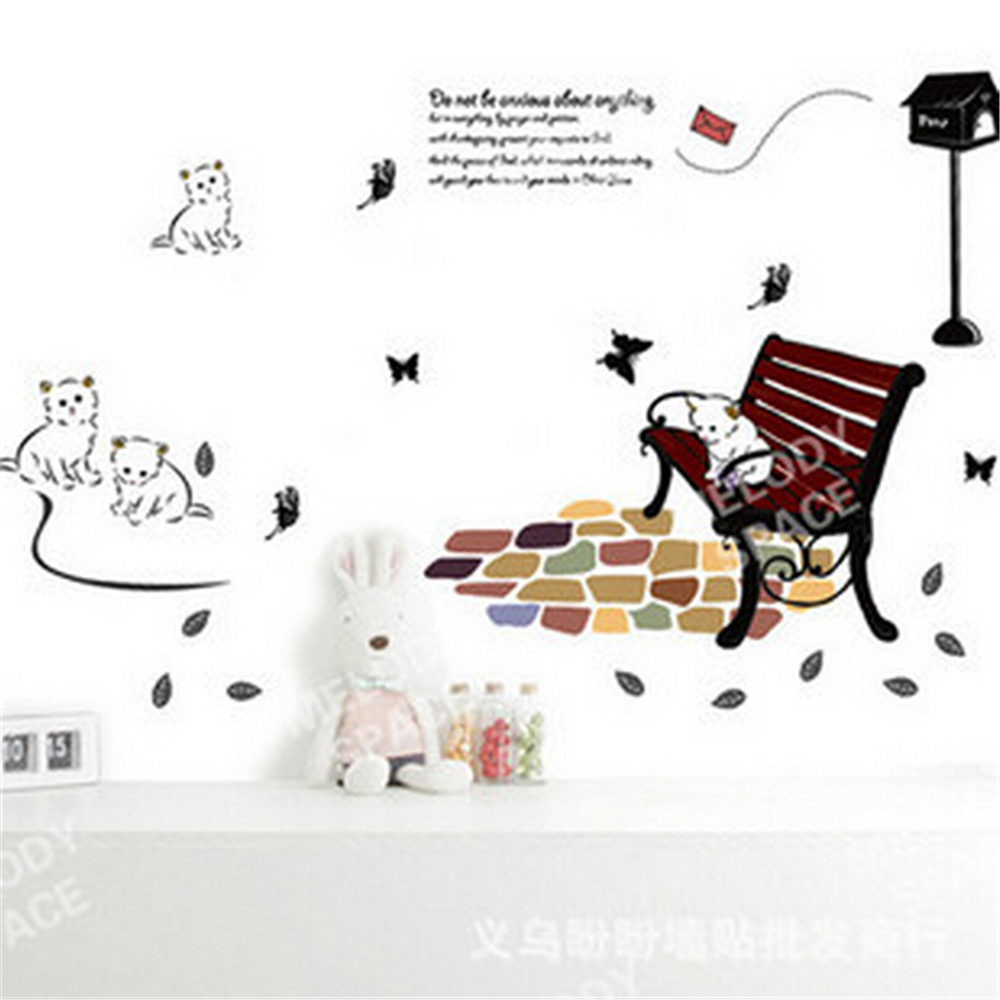 popular cat wall art stickers buy cheap cat wall art stickers lots cartoon wall art white cats children vinyl wall stickers for kids rooms background decal sticker diy