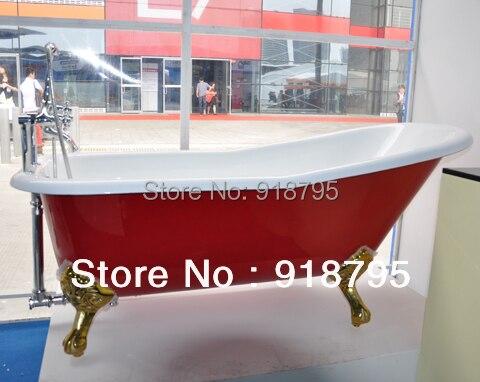 Heimwerker Freies Verschiffen Luxus Innen Badewanne Gusseisen Doppelseitige Badewanne 1002-3 Reine WeißE