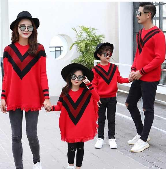 family set fashion sweaters clothing mommy and me matching outfit clothes  dad mother mom  b436cde1c9a