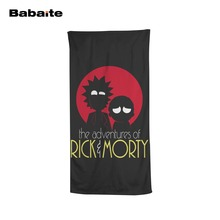 Babaite Rick and Morty Cartoon Creative Funny Adult Kids Bath Beach Towels Home Hotel Quick-Drying Washcloth Swimming Wrap