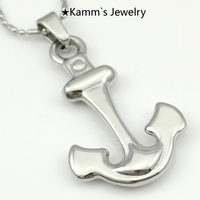Anchor Pendant Men Silver 316 Stainless Steel Pendants Necklace Frozen Jewellery Halloween Charms Mandala Mjolnir Crest