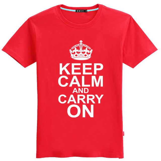 US $9 9 |men new Eason summer keep calm and carry on short sleeve T shirt  class daily causal 6XL 5XL 4XL plus size loose discount boys-in T-Shirts