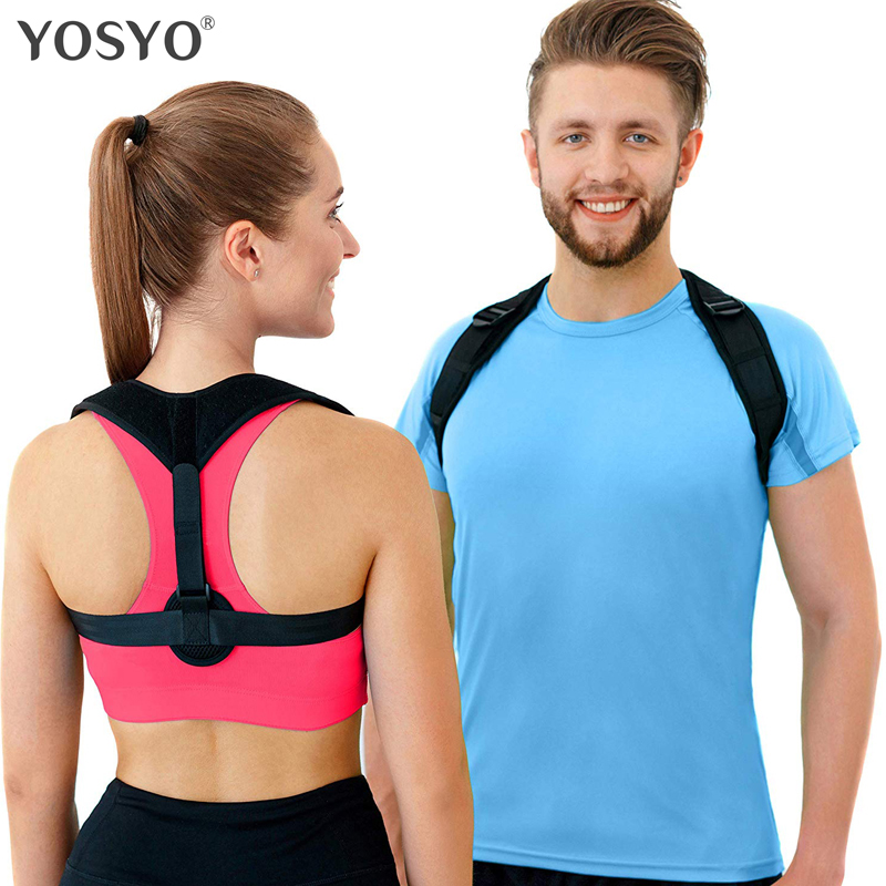 YOSYO Back Posture Corrector Women Men, Prevent Slouching Relieve Pain Posture Straps, Clavicle Support Brace Drop Shipping costumi moda 2019