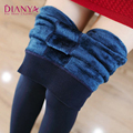 Cashmere Leggings Girls Winter Warm Leggings Women Faux Velvet Knitted Thick Slim Super Elastic Leggings Pants 2016 Hot Sale