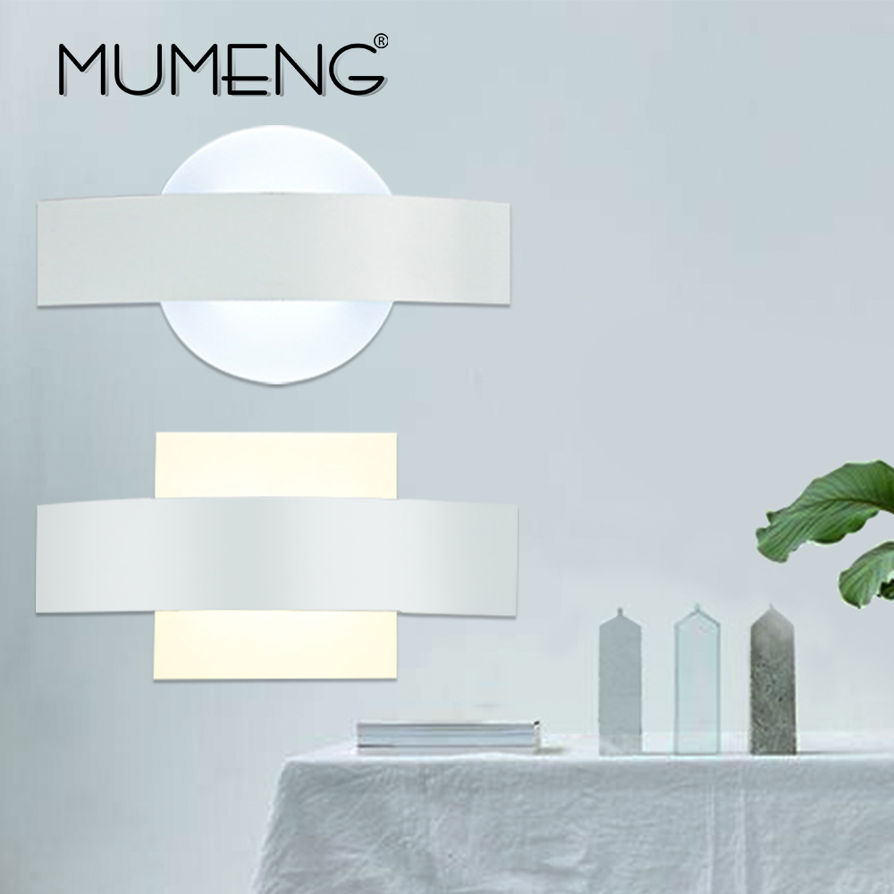 MUMENG Modern  Simple  Wall lamp  LED Aluminum Material Light  Corridor Aisle  Hotel Bedroom Bedside Lamp COB Lighting