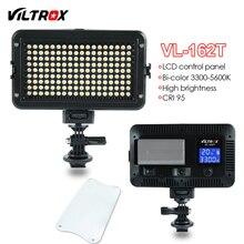 Viltrox 162 LED видео фотографии студийный свет ЖК-дисплей Панель Би-Цвет затемнения для Canon Nikon Sony DSLR Камера DV видеокамера