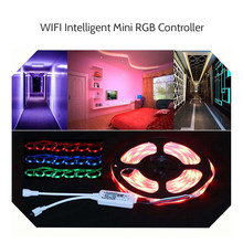 LED Strip Lampu Mini 24 Kunci IR Remote Kontroler Nirkabel Wifi LED RGB Controler Dimmer DC5-28V 144 W (Max)(China)