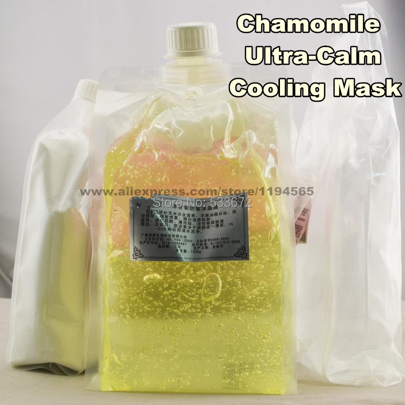 1KG Sensitive Skin Chamomile Mask Gel Beauty Salon 1000ml Ultra-Calm Cooling Soothes Recuperate Repair 1kg sensitive skin chamomile mask gel beauty salon 1000ml ultra calm cooling soothes recuperate repair