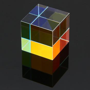 15mm wadliwy krzyż dichroiczny pryzmat łącznik Splitter x-cube szklany pryzmat edukacyjne narzędzia dydaktyczne badania dekoracje pryzmat tanie i dobre opinie Mayitr Other Defective Glass Prism Optical Glass X-cube Glass Prism Approx 15*15*15mm