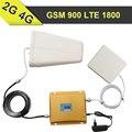 ЖК-Дисплей 65dB GSM 4 Г Сотовый Телефон Усилитель Сигнала GSM 900 LTE 1800 Booster GSM 900 мГц 1800 мГц Мобильный Телефон Сотовый ретранслятор