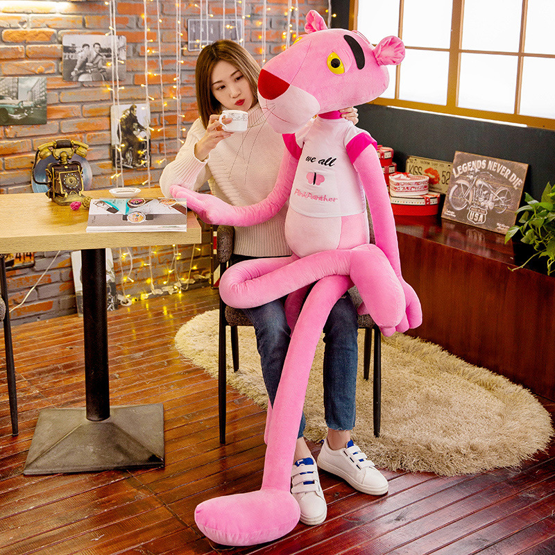 New 60-100 cm Cute Plush Pink Panther Soft Children Toys Animal Doll Baby Kids Children Birthday Gift 1 pcs