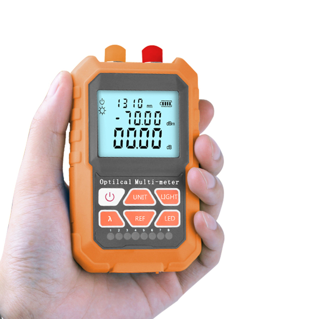 Handheld Mini Multifunction Optical Power Meter & 5MW Visual Fault Locator VFL Optical Laser Light Source with RJ45 Network test