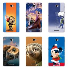 Cute Animal Cat Printing Case For Sony Xperia E4 E2104 E2105 E2114 E2115 E2124 Cover Relief Cartoon Design Funda Soft Skin Coque(China)