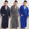 Зима Осень толстые фланелевые мужские женские Халаты мужчин домашняя одежда мужской пижамы отдыха пижамы пижамы