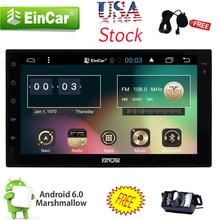 "Andriod 6.0 Double 2Din 7"" HD Car DVD Stereo GPS Radio WiFi 3G Unit CAM Car styling cassette tape recorder PC In Center console"