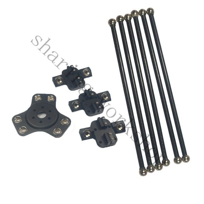 Diy 3dプリンタデルタkossel xlブラックカラー磁気3ピースキャリッジ+ 1ピースeffecto + 6ピース300ミリメートルカーボンチューブ対角線プッシュrodt  グループ上の パソコン & オフィス からの 3Dプリンタパーツ & アクセサリ の中 1