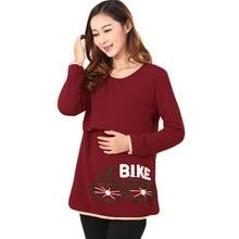 Mode vélo broderie chemise de maternité de soins infirmiers allaitement Tops T Shirt pour les femmes enceintes , Plus la taille infirmiers Top vêtements