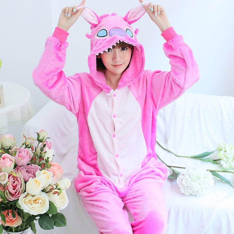 2018 Women Pajamas Sets Flannel Adult Hooded Cartoon Animal Sleepwear Homewear kugurumi Pajama home clothes for men women