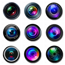Graphex Camera Lens 30 MM Fridge Magnet Photographer Gift Glass Dome Magnetic Refrigerator Stickers Note Holder Home Decoration