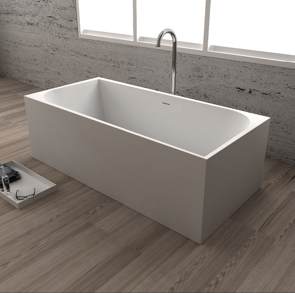 1700x750x580mm Solid Surface Stone CUPC Approval Bathtub Rectangular Freestanding Corian Matt Or Glossy Finishing Tub RS65110