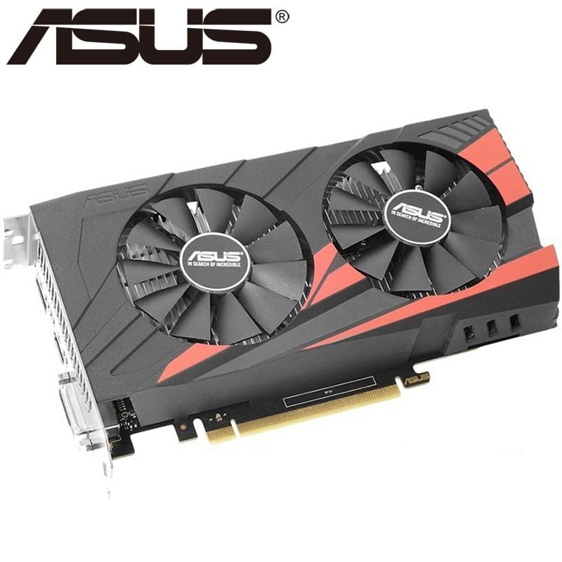 Оригинальная Видеокарта ASUS GTX 1050 Ti, 4 Гб, бит, GDDR5, графические карты для nVIDIA, карты VGA Geforce GTX 1050ti, Hdmi Dvi, игровая, б/у-1