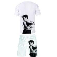 2019 Summer Brand New Men T Shirt Sets Cameron Boyce Tshirt Cotton Comfortable Short Sleeve Homme Casual Set Male Size XXL-4XL