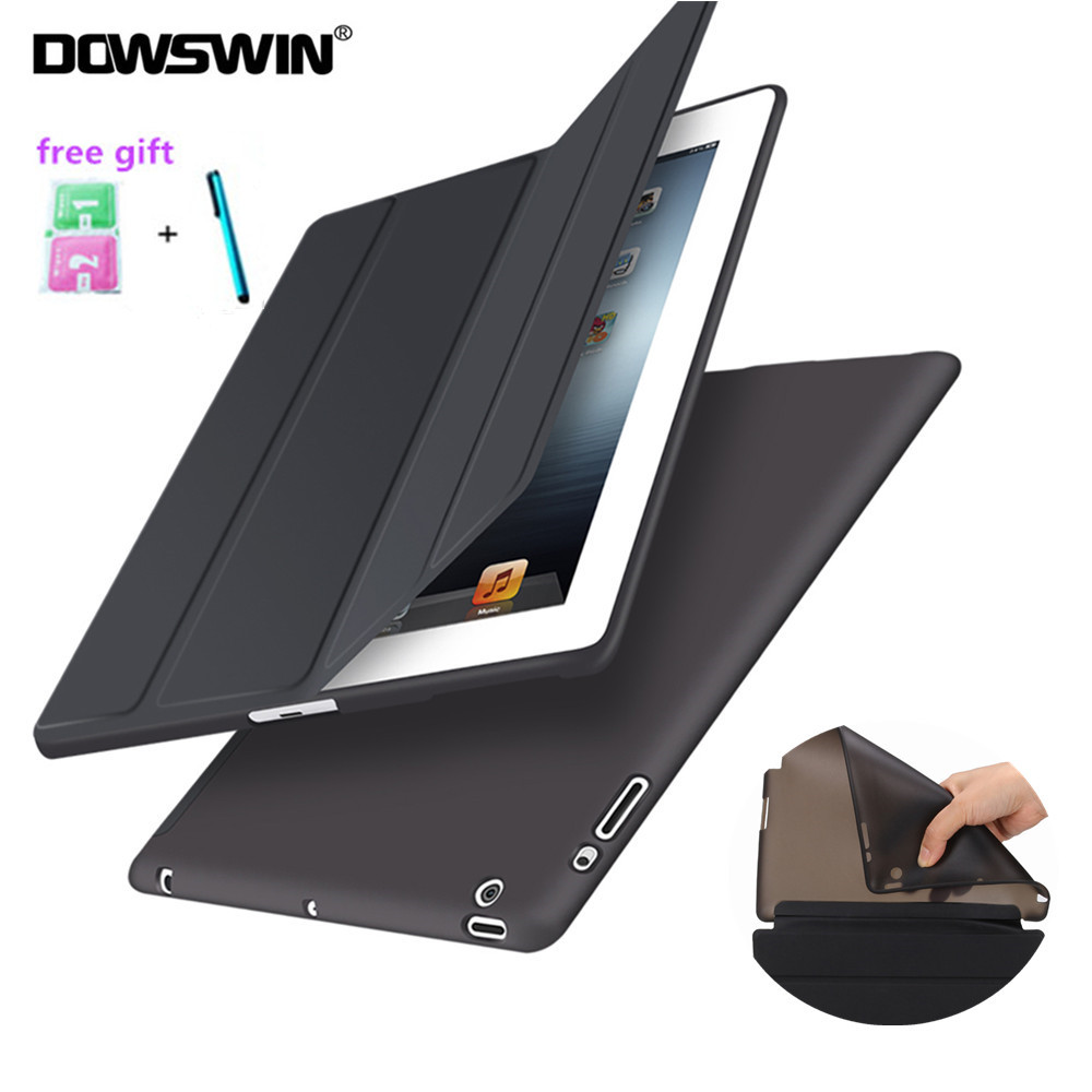 DOWSWIN Case For iPad 2 3 4 Soft Back Cover TPU Leather Case For iPad 4 Flip Smart Cover For iPad 2 Case Auto Sleep/Wake Up luxury lattice cover case for ipad 2 3 4 pu leather protective case for ipad 2 ipad 3 ipad 4 9 7 inch auto wake cover
