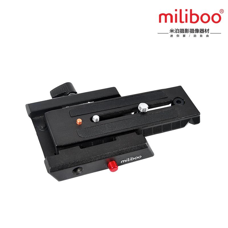 Miliboo MYT804 Deslizamento Suporte de Montagem Rápida Prato de Liberação Rápida com 1/4 ''e 3/8'' parafuso substituir manfrotto