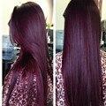 Peruvian Virgin Hair Straight Red 99J Human Hair Weave 3 Bundles Burgundy Peruvian Straight Virgin Hair Red Human Hair Bundles