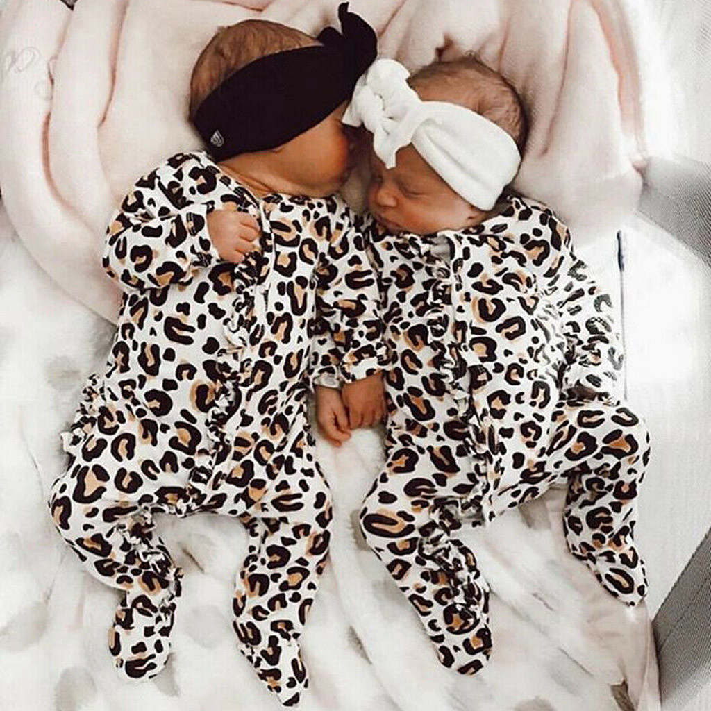 baby clothes Long sleeve girl boy clothes Newborn Toddler Infant Baby Girl Boy Leopard Print Clothes   Romper   Jumpsuit Winter 2019