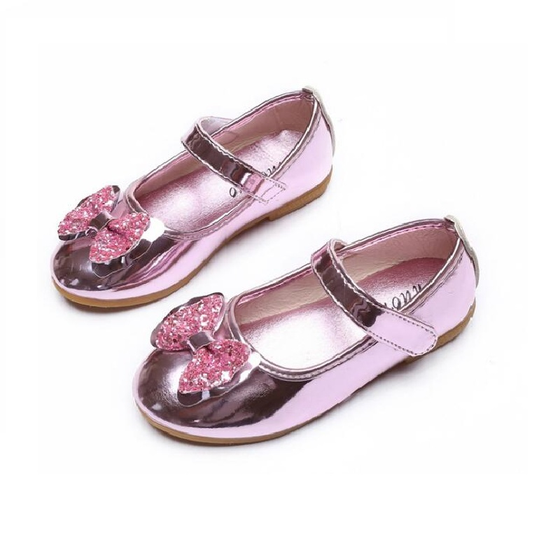New Summer Autumn Children Shoes Girls Sandals sequins Bow Princess leather shoes Girls Casual Shoes dance shoes 21