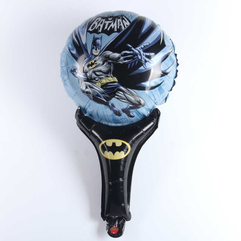 Mini Batman hand held  Aluminm Foil Balloons kids Happy birthday party decoration baby shower Celebration Supplies