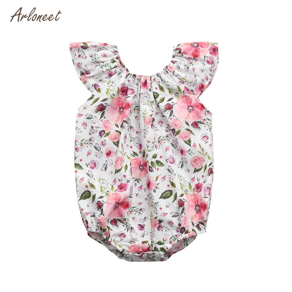ARLONEET Newborn Baby Girl Floral Print Romper Playsuit Jumpsuit Outfit Sunsuit Clothes 2018 HOT Dropshipping _E18