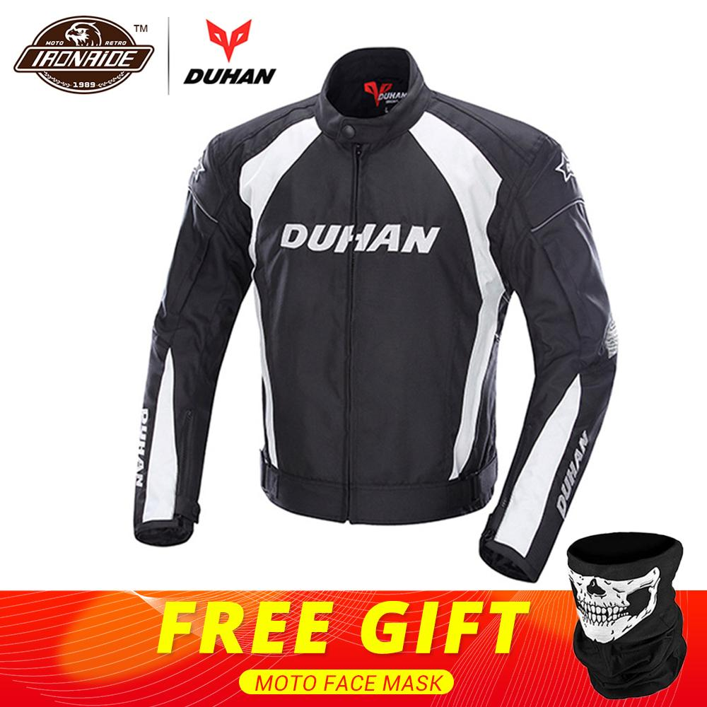 DUHAN Autumn Winter Motorcycle Jacket Men Perlindungan Gear Moto Jacket Windproof Cold-proof Touring Motorbike Riding Clothing