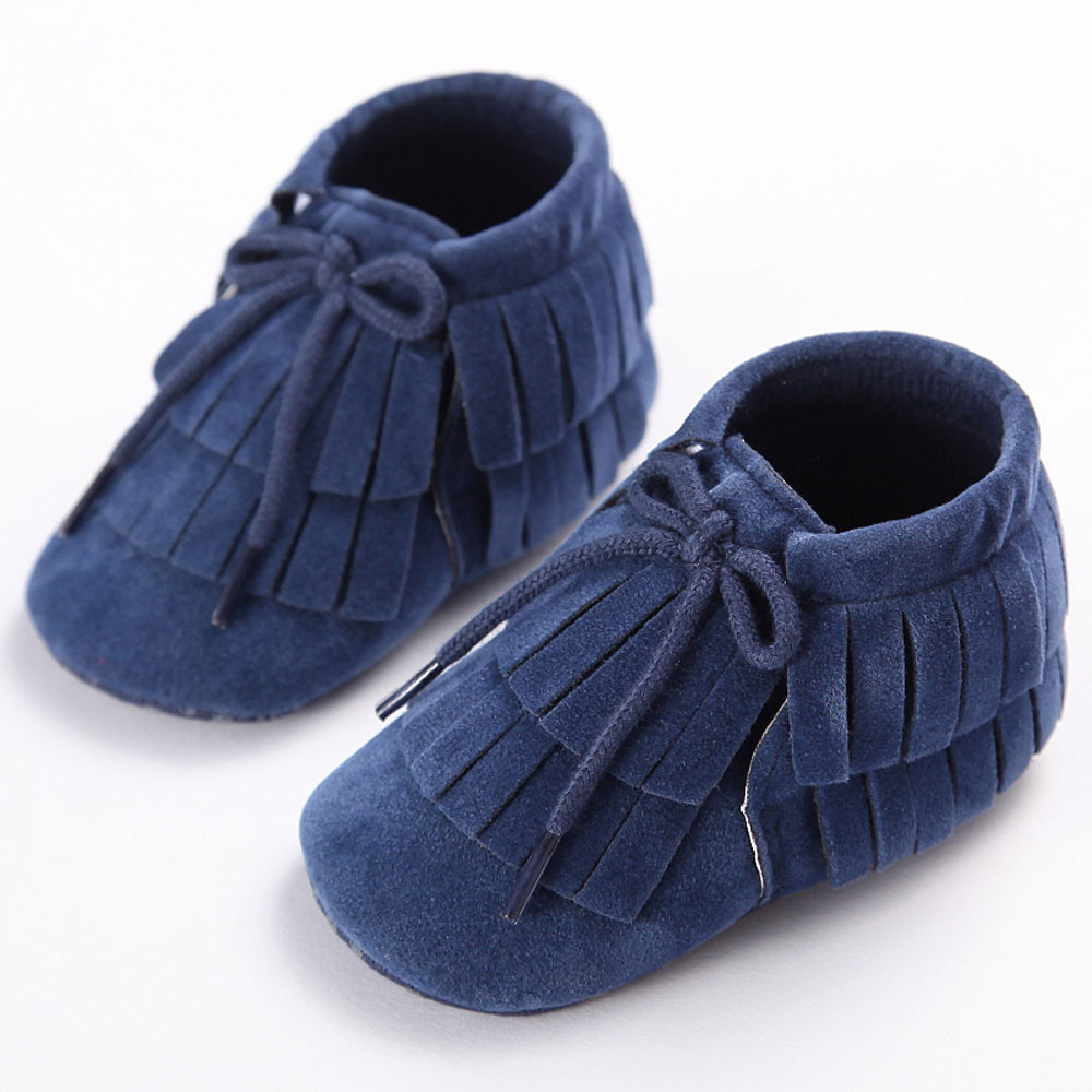 Infant Newborn Baby Girls Boys shoes Tassel Soft Sole Prewalker 8 colors leather baby moccasins Breathable baby sneakers #20