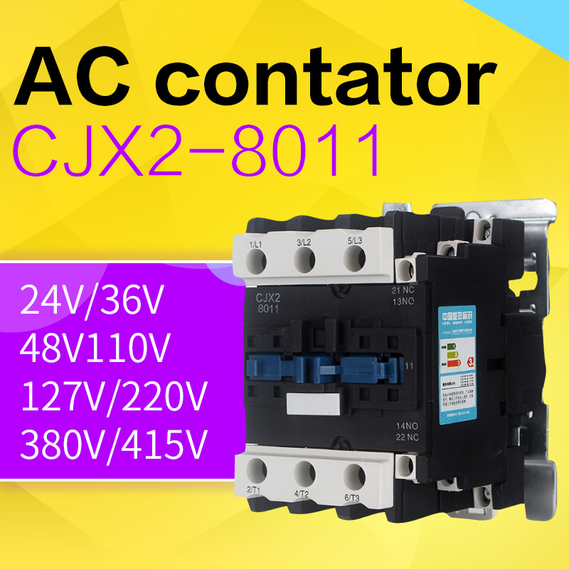 shthde CJX2-8011 220V 80A 3 phase 3P+1No+1NC(normal open+normal close) ac contactor TIANHUI ELECTRIC rail or screw install ac motor contactor din rail mount 3 phase 3p 1no 1nc 80a rated current 24v 36v 220v 380v coil volt contacts relay 125a ith