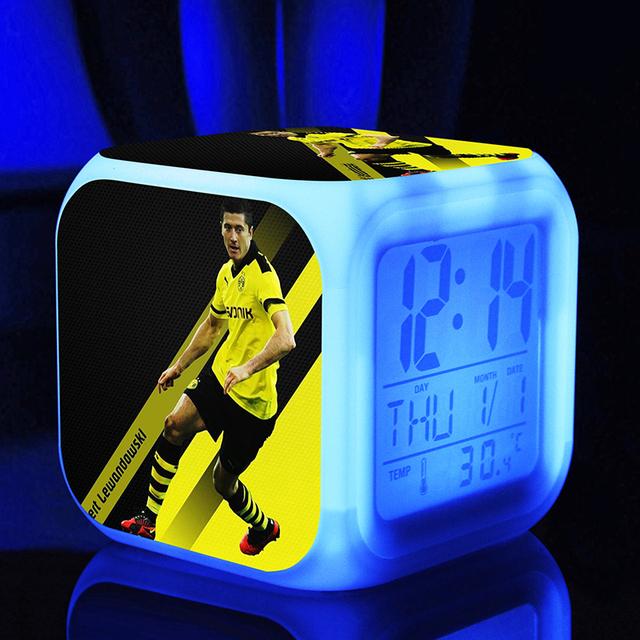 Soccer Star Clock And Lamp