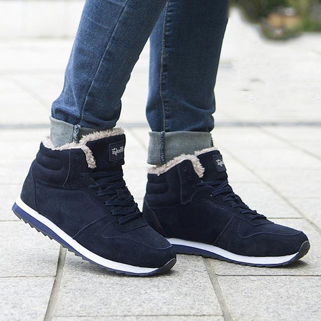 Men Shoes Winter Warm Fur Men Casual Shoes Flock Footwear For Winter Man Sneakers
