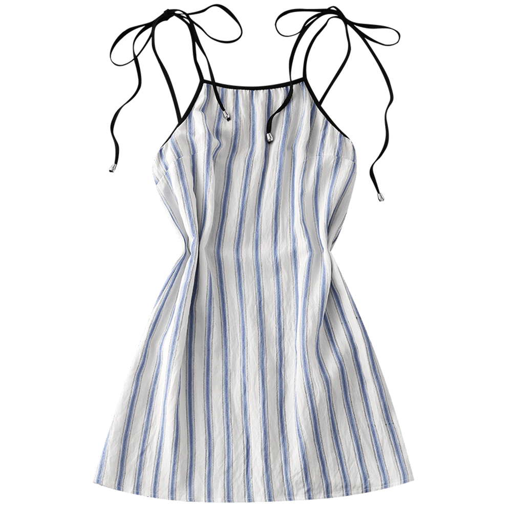 8ee12faabe8 Detail Feedback Questions about ZAFUL 2018 New Women Cover ups Stripes Slip Mini  Dress Beach A Line Spaghetti Strap Sleeveless Cover ups for Women on ...