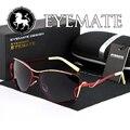 EYEMATE Продать 2017 Большие Солнцезащитные Очки Поляризованные Очки, За Рулем Солнцезащитные очки Классические Солнечные Очки Женщин Женственность Бесплатная Доставка