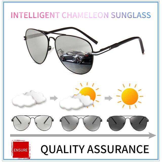 7964a0caa8 2018 new Driving Photochromic Sunglasses Men Polarized Chameleon  Discoloration vintage women Sun glasses for men oculos de sol