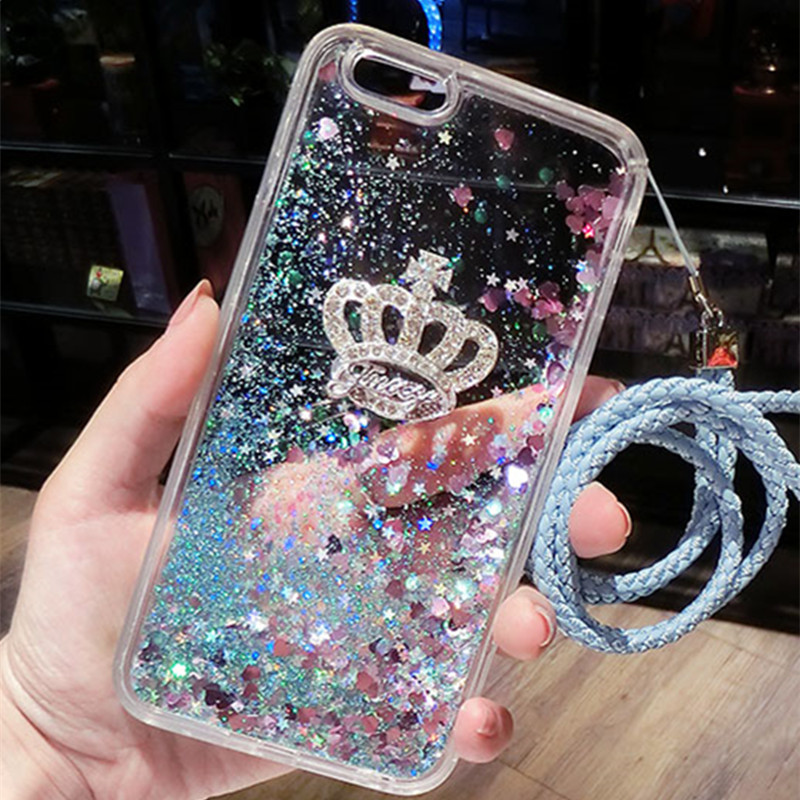 For Samsung C5 Pro C7 Pro Case Quicksand Dynamic Liquid Glitter Sand Silicone Rhinestone Phone Cover For Samsung C9 pro Coque