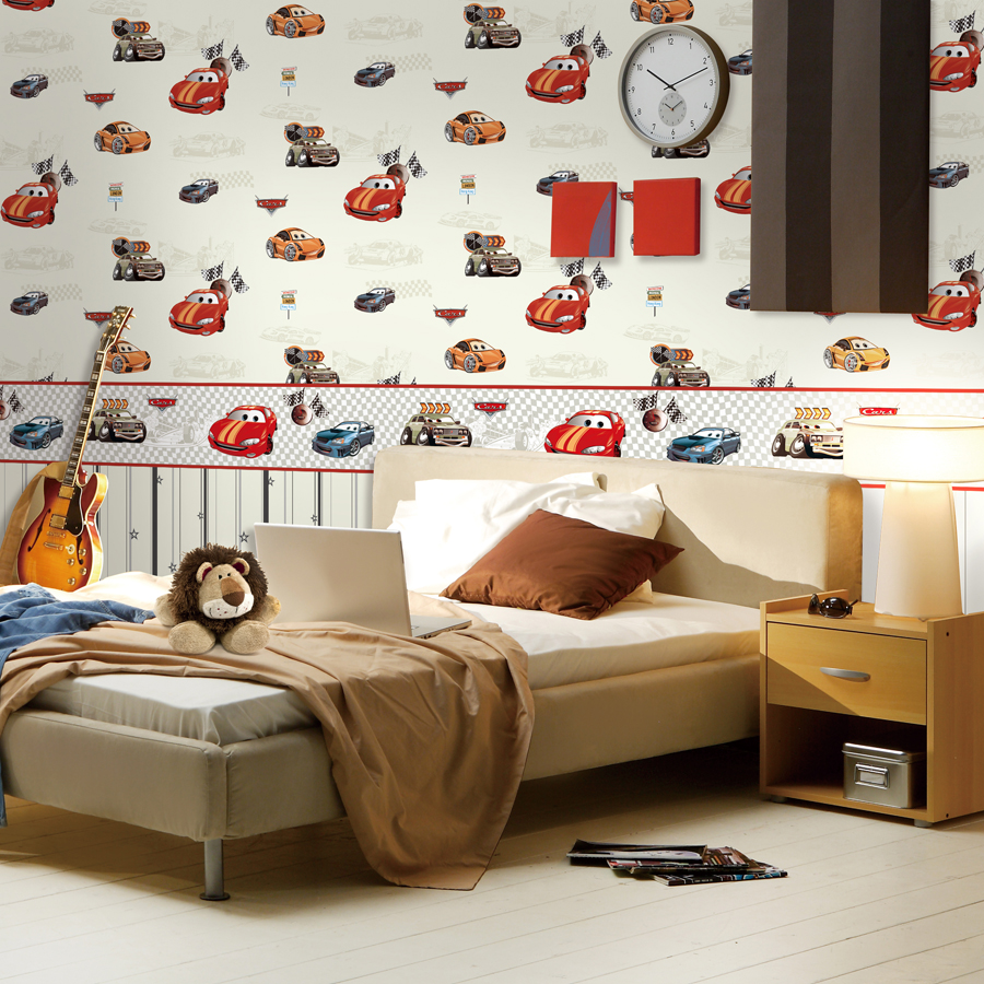 Dormitorio Infantil De Coches En 3d Wallpaper Ni O Habitaci N  ~ Fotos En La Pared De La Habitacion