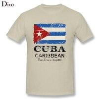 Vintage Cuba Flag Tee Shirt Men Boy Tailored Short Sleeve Fashion Custom Plus Size Group Tee