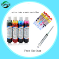 1 set 4 pcs 100ml Edible ink +1 set 5 color PGI-550 CLI-551 Ink cartridge  For canon ip7250 MG5450 MX725 printer + Syringe