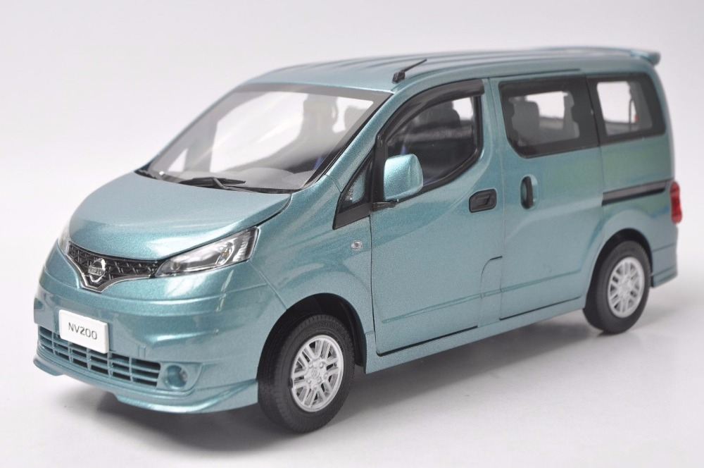 1:18 Diecast Model for Nissan All New NV200 Vanette Blue MPV Alloy Toy Car Miniature Collection Gifts 1 18 diecast model for volkswagen vw all new touran l 2016 brown mpv alloy toy car miniature collection gifts