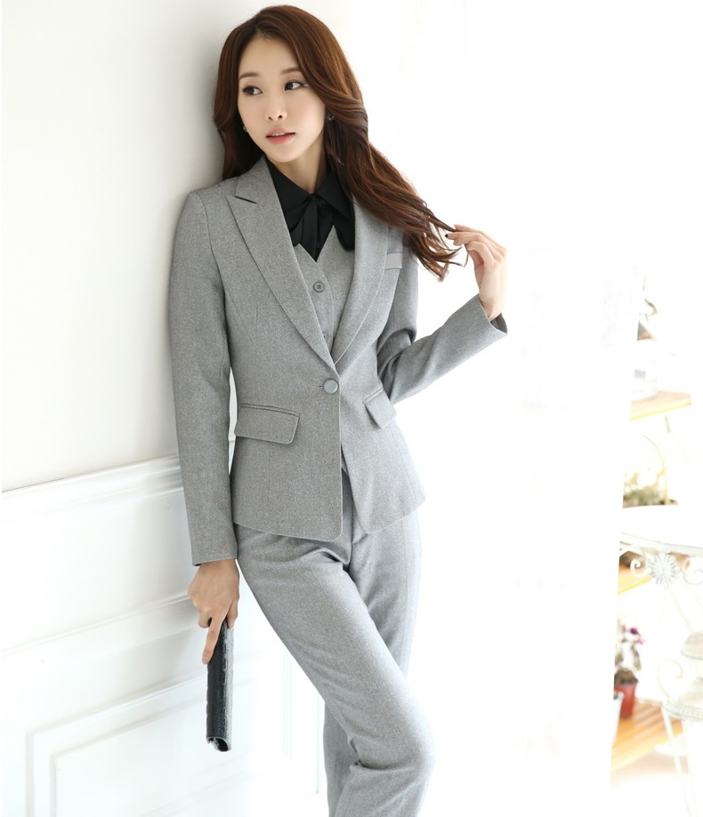 b2ffa7f27e9 Plus Size 4XL Professional Spring Autumn Formal OL Styles Business Suits  With Jackets And Pants Ladies Pantsuits Trousers Sets-in Pant Suits from  Women s ...